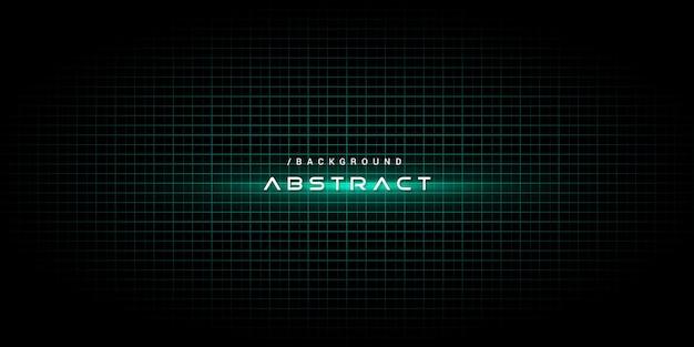 Grüner abstrakter technologie-hintergrund mit lichteffekt Premium Vektoren