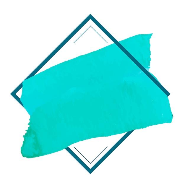 Grüner aquarellfahnen-designvektor Kostenlosen Vektoren