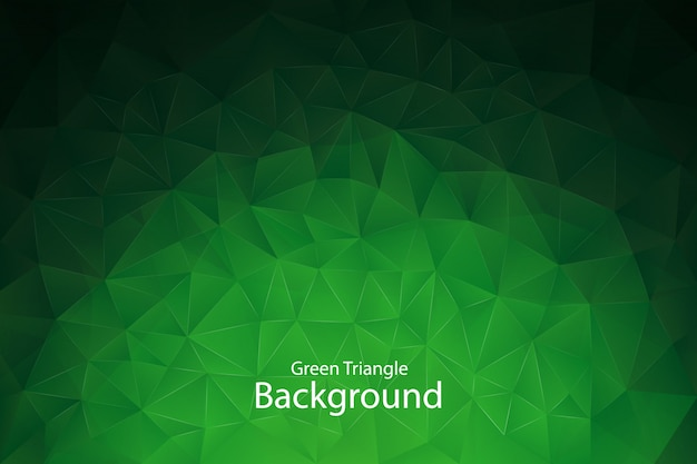 Grüner geometrischer dreieck-hintergrund Premium Vektoren