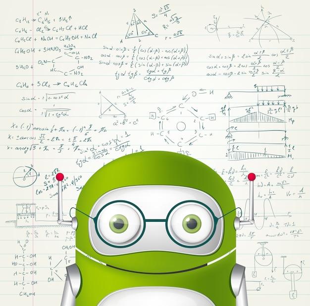 Grüner roboter Premium Vektoren