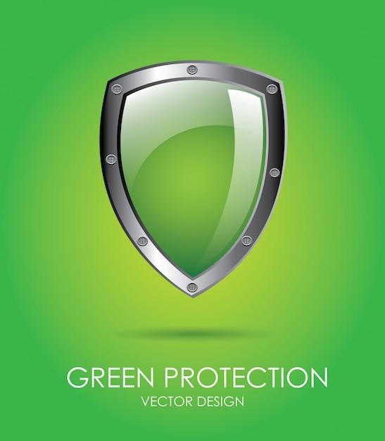 Grüner schutz Premium Vektoren