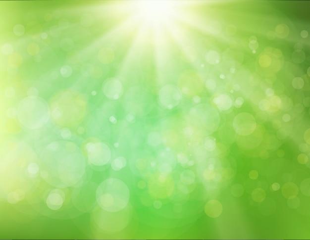 Grüner sunburst-hintergrund Premium Vektoren