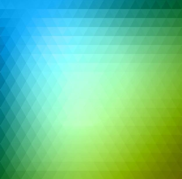 Grüner und blauer hintergrund des abstrakten dreiecks Premium Vektoren