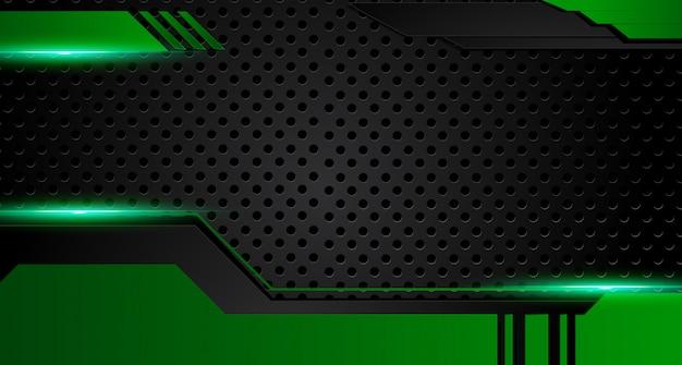 Grüner und schwarzer geometrischer abstrakter unternehmenshintergrund. vektor. Premium Vektoren
