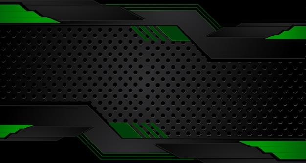 Grüner und schwarzer geometrischer abstrakter unternehmenshintergrund Premium Vektoren
