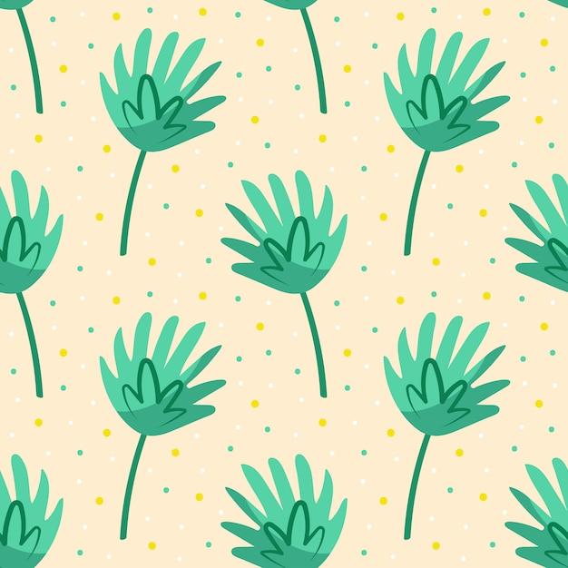 Grünes süßes blatt. flora designelemente. wildes leben, natur. palmenblätter. Premium Vektoren