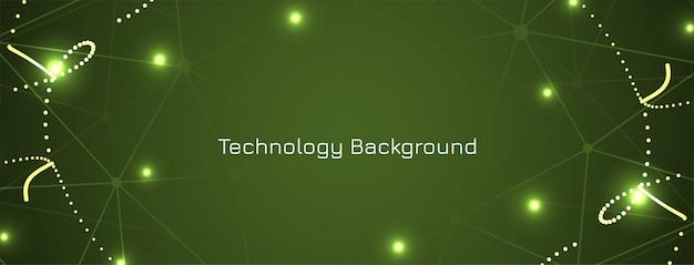 Grünes technologiekonzept-banner Kostenlosen Vektoren