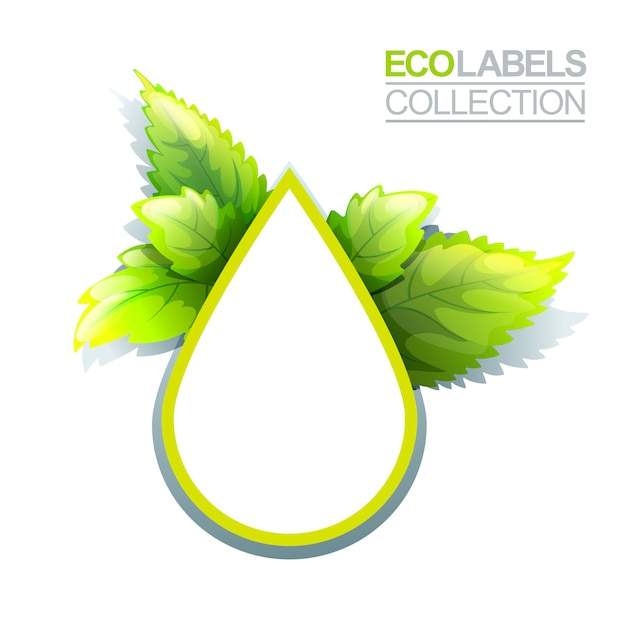Grünes umweltzeichen Premium Vektoren