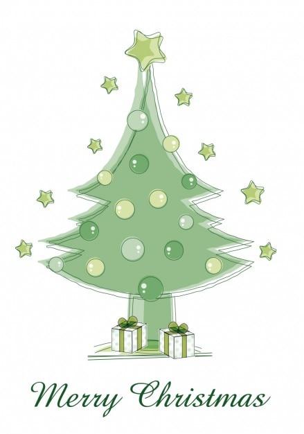 gr n frohe weihnachten baum download der kostenlosen vektor. Black Bedroom Furniture Sets. Home Design Ideas