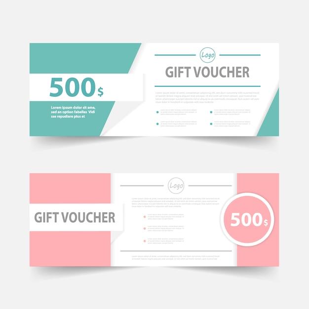Grün rosa Geschenkgutschein Vorlage mit Muster | Download der ...