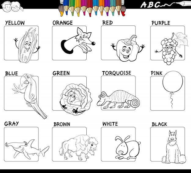 Grundfarben pädagogisches Arbeitsblatt zum Ausmalen | Download der ...