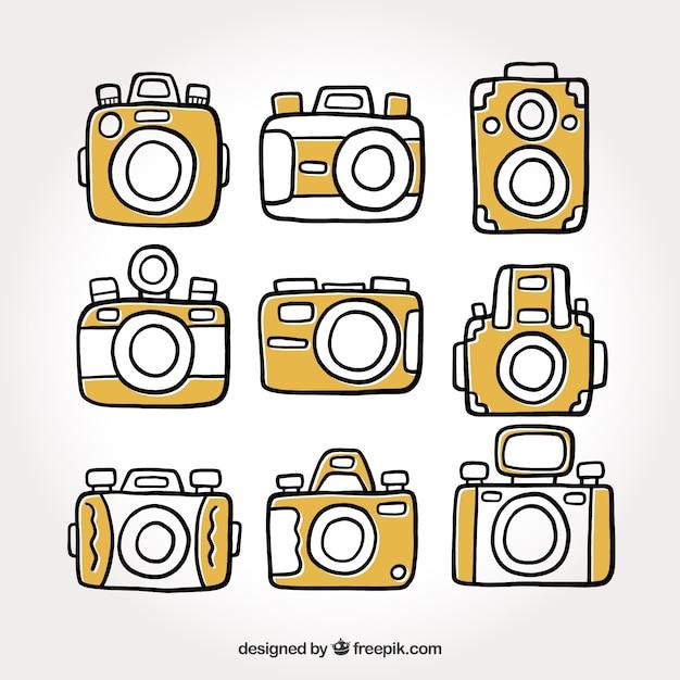 Grundlegende kamera-kollektion Kostenlosen Vektoren