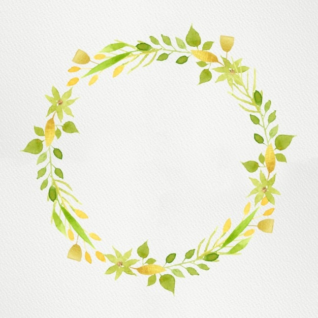 Grüne Aquarell Kranz | Download der kostenlosen Vektor