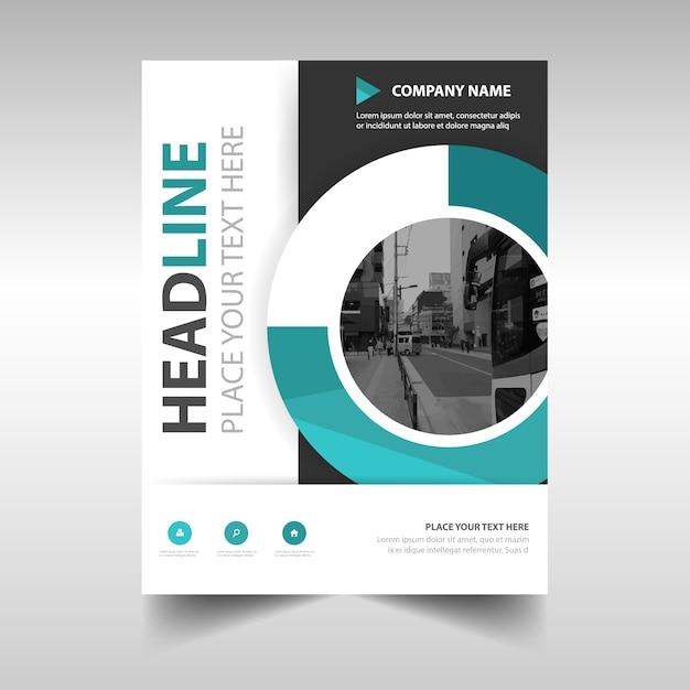 Grüne kreative Jahresbericht Buchumschlag Vorlage | Download der ...
