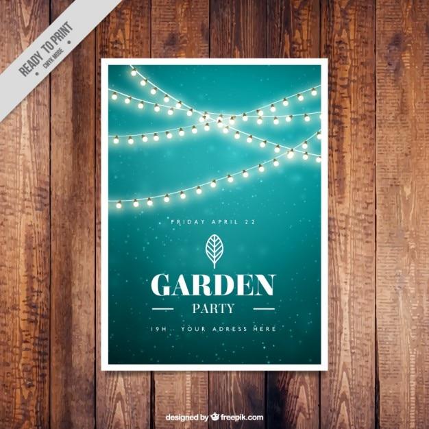 Grüner Garten Party Einladung Design | Download Der Kostenlosen Vektor,  Kreative Einladungen