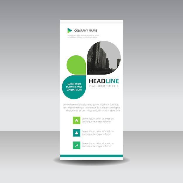 Grünes Blatt kreativ Roll up Banner Vorlage Kostenlose Vektoren