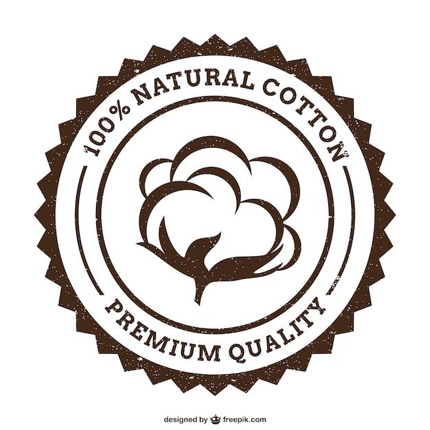 Grunge baumwolle logo Premium Vektoren
