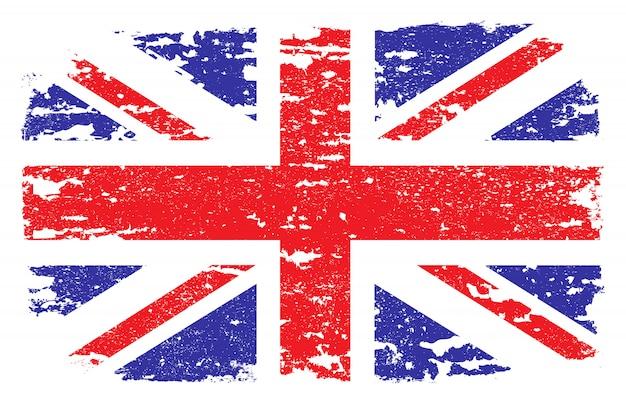 Grunge flagge von großbritannien Premium Vektoren