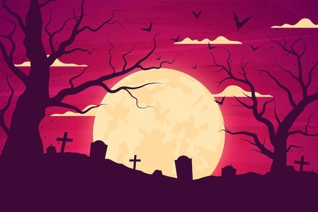 Grunge halloween hintergrund Kostenlosen Vektoren