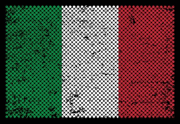 Grunge italien flagge Premium Vektoren