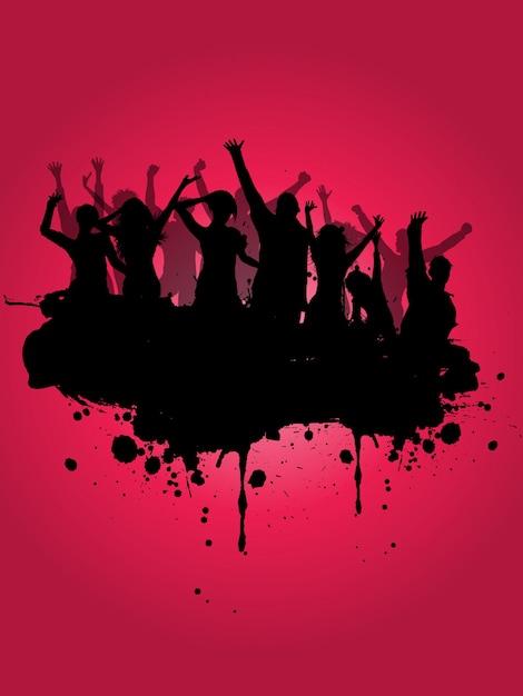 Grunge Party Hintergrund Kostenlose Vektoren
