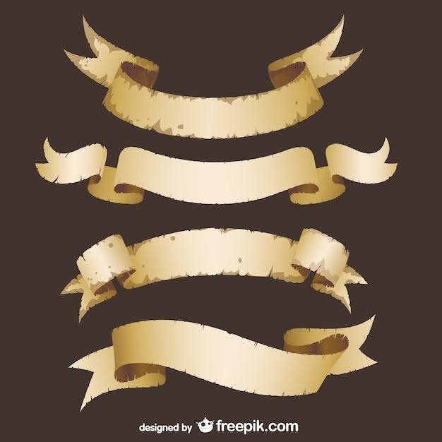 Grunge ribbons vektor Kostenlosen Vektoren