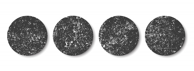 Grunge schwarze kreise Premium Vektoren