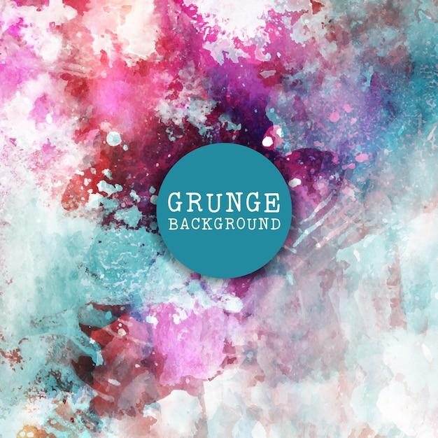 Grunge-Stil Hintergrund mit farbigen Pinselstrichen Kostenlose Vektoren