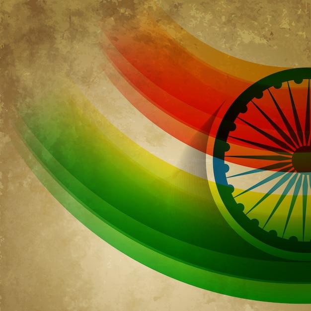 Grunge-stil vektor indischen flagge design Kostenlosen Vektoren