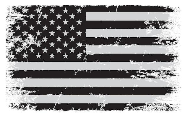 Grunge vintage amerikanische flagge Premium Vektoren