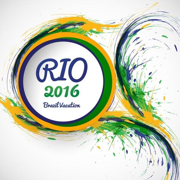 Grungy brasilien farben hintergrund Kostenlosen Vektoren