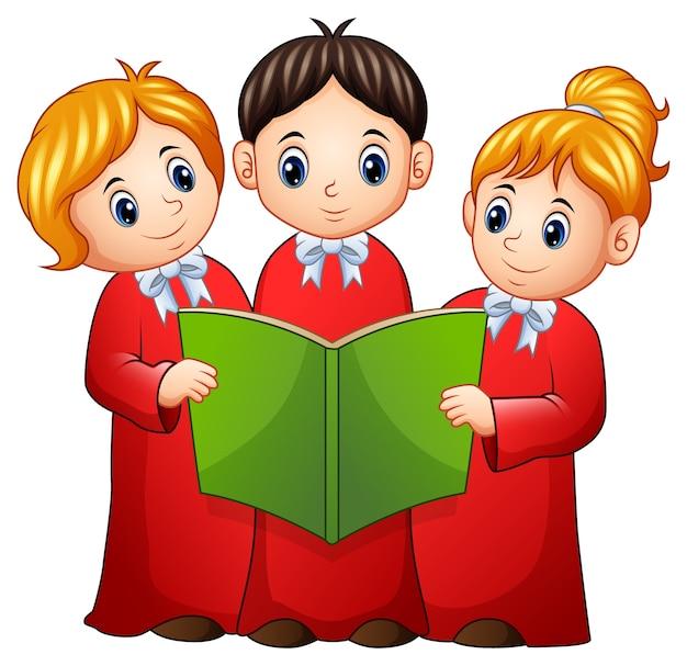 Gruppe kinderchor Premium Vektoren