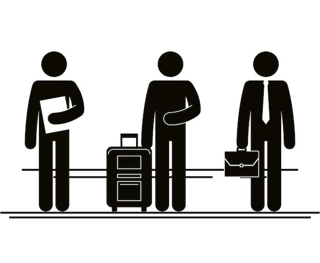 Gruppe von personen im stadtvektor-illustrationsdesign Premium Vektoren
