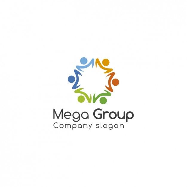 Gruppen-logo-vorlage Kostenlosen Vektoren