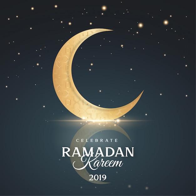 Gruß ramadan kareem hintergrund Kostenlosen Vektoren