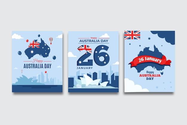 Grußkarten australien tagesereignis Kostenlosen Vektoren