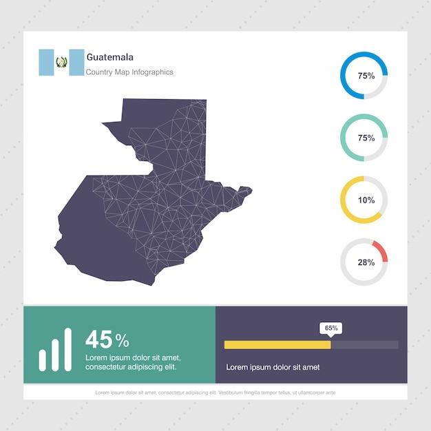 Guatemala Karte.Guatemala Karte Flagge Infografik Vorlage Download Der Premium