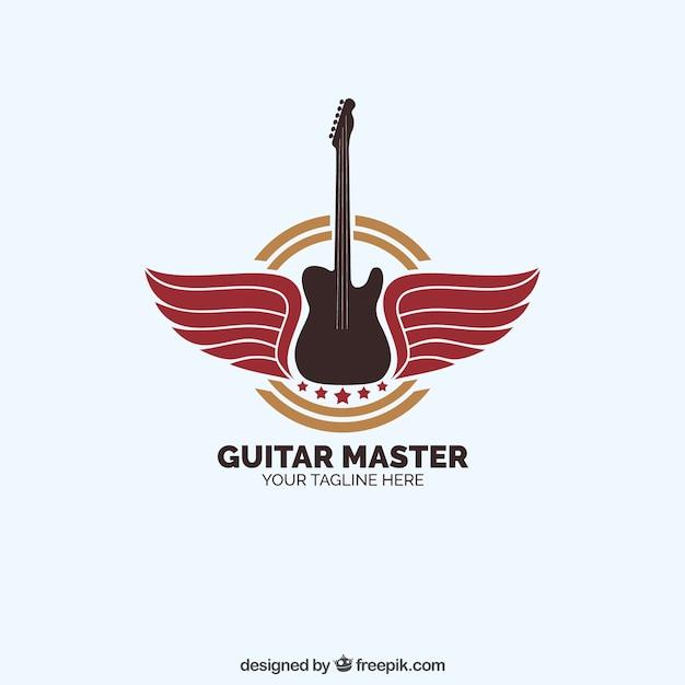 Guitar master logo Kostenlosen Vektoren