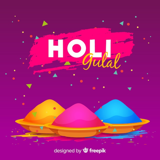 Gulal holi festival hintergrund Kostenlosen Vektoren