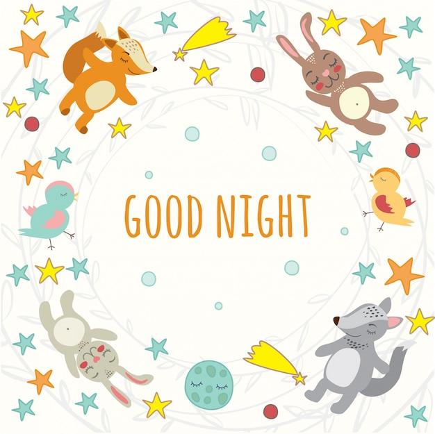 Gute nacht Kostenlosen Vektoren