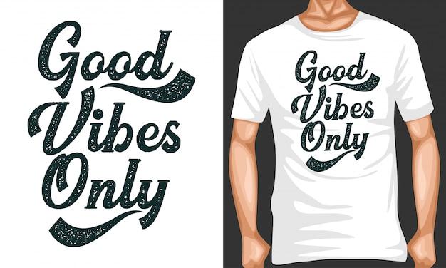 Gute stimmung schriftzug zitate typografie Premium Vektoren