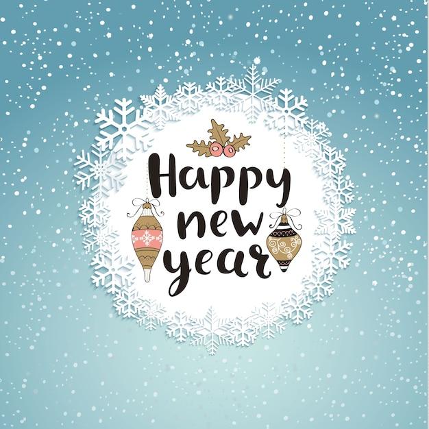 Guten Rutsch ins Neue Jahr-Gruß-Karte. | Download der Premium Vektor