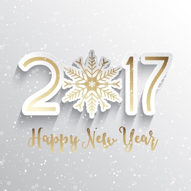 Guten Rutsch ins Neue Jahr Hintergrund mit Schneeflocken-Design Kostenlose Vektoren