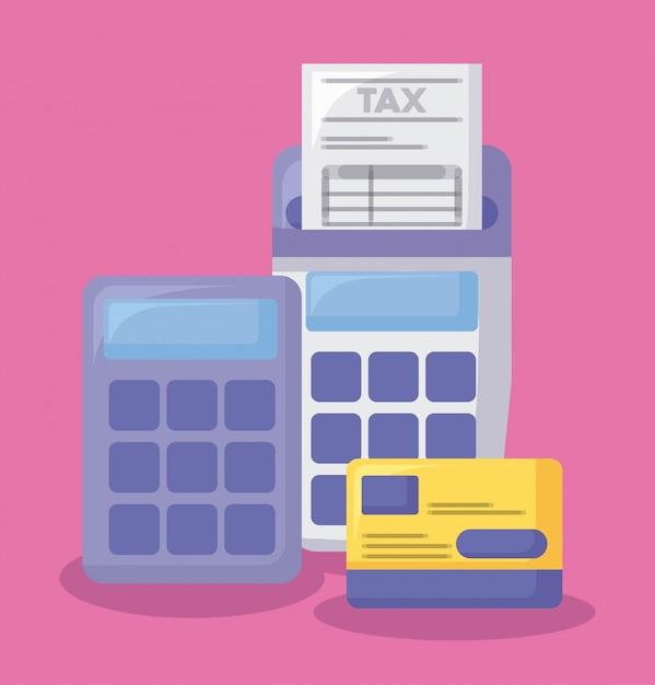 Gutschein mit wirtschaft und finanzen Premium Vektoren