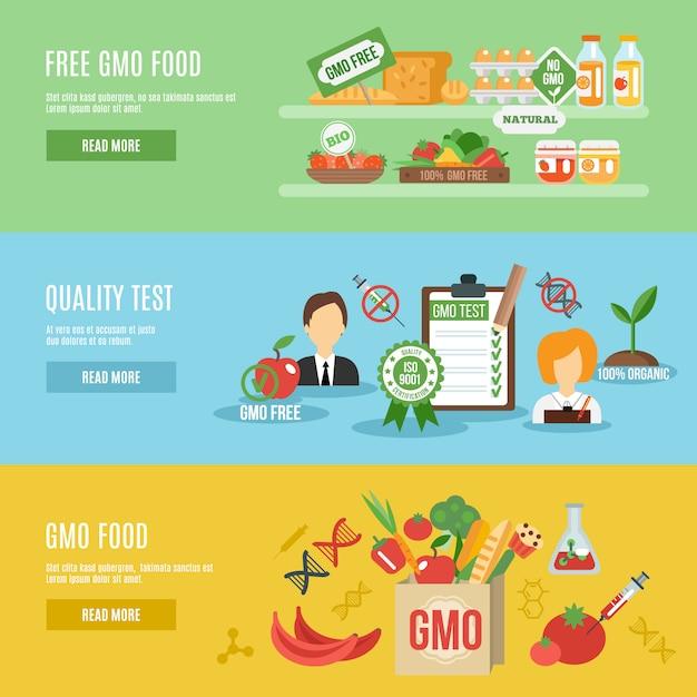 Gvo-banner-set Kostenlosen Vektoren