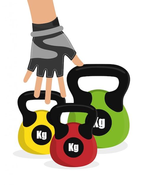 Gym digitales design. Premium Vektoren