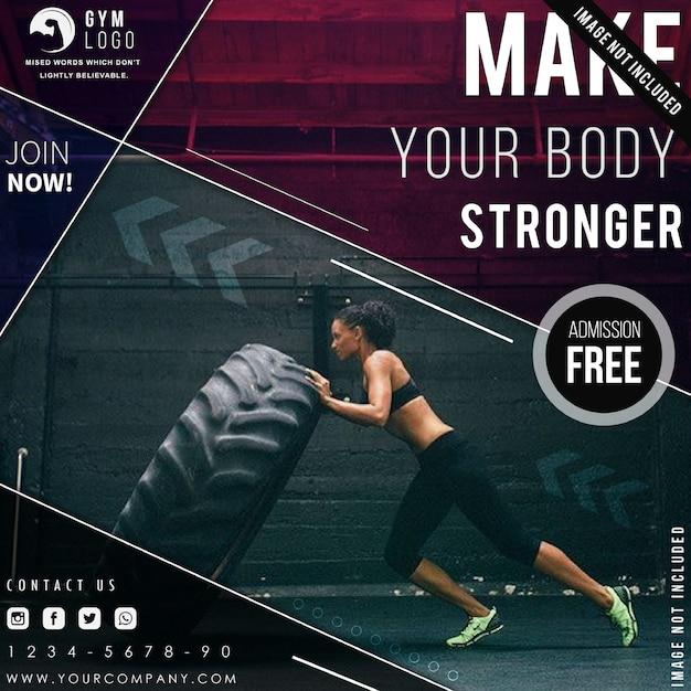 Gym fitness flyer vorlage Premium Vektoren