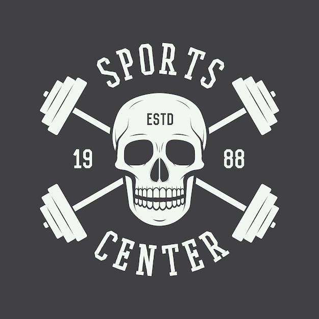 Gym logo, beschriftung Premium Vektoren