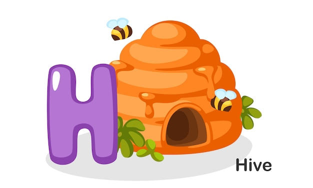 H für hive Premium Vektoren