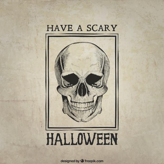 Haben sie ein beängstigendes halloween Kostenlosen Vektoren